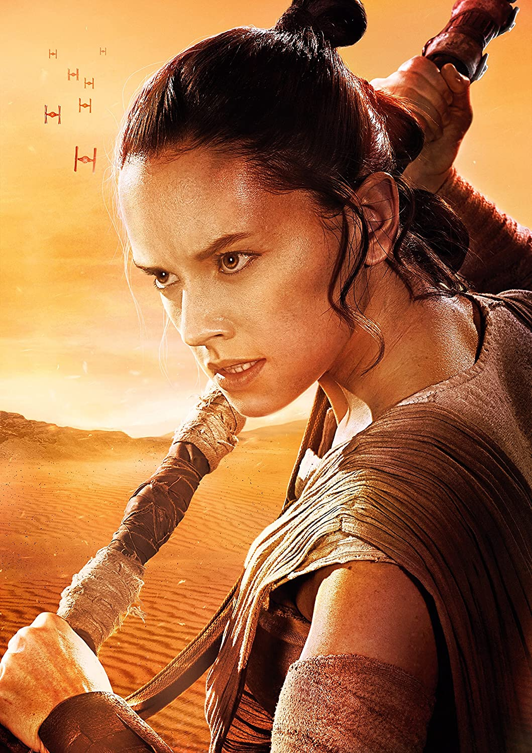 """Rey Poster - Star Wars: The Force Awakens 24"""" X 36"""" Movie Poster (Glossy Photo Paper) - No Text / Borderless"""
