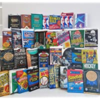 $29 » Over 200 Cards in 20 Vintage unopened Baseball, Football, Basketball, Hockey wax packs from…
