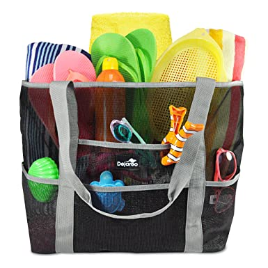 Amazon.com | Dejaroo Mesh Beach Bag - Toy Tote Bag - Large ...