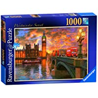 Ravensburger Westminster Sunset Puzzle 1000pc,Adult Puzzles