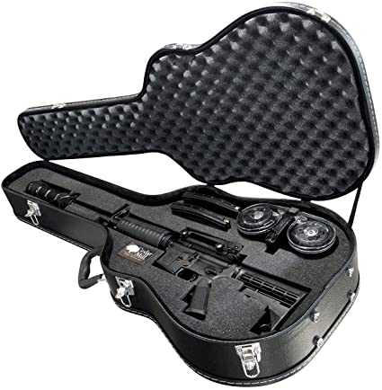 Discreet Concealment Guitar Rifle Case and Diversion Safe - Double Pick  Pluck foam security hard gun a70bad3ac3