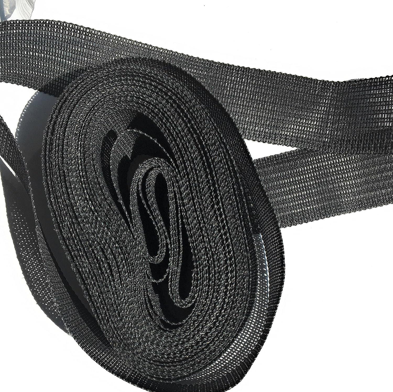 10yards Waistband Interfacing Black -Belting Ban -ROL 1-3//8 Woven Waistband Stiffener
