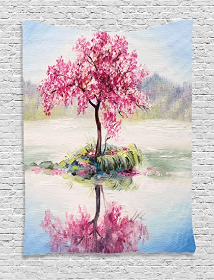 Amazon.com: Ambesonne Country Decor Tapestry Wall Hanging, Image of ...