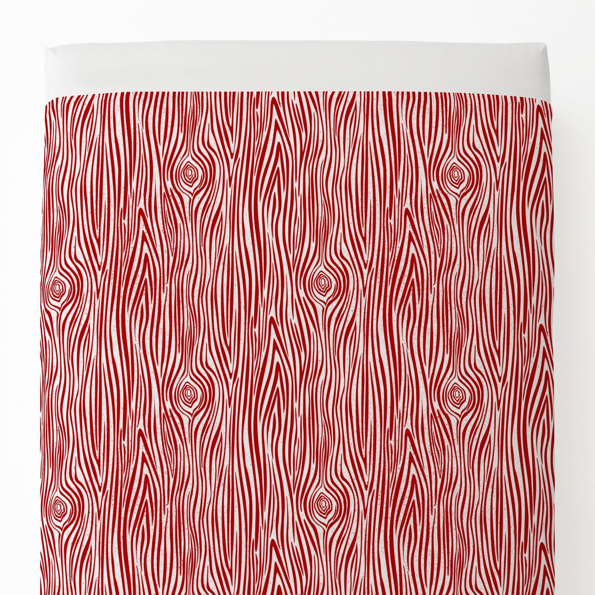 Carousel Designs Red Woodgrain Toddler Bed Sheet Top Flat by Carousel Designs (Image #1)