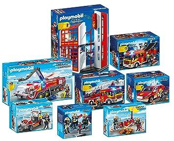 Playmobil Feuerwehr 8 Teiliges Komplettset 2017 5361 5362 5363 5364