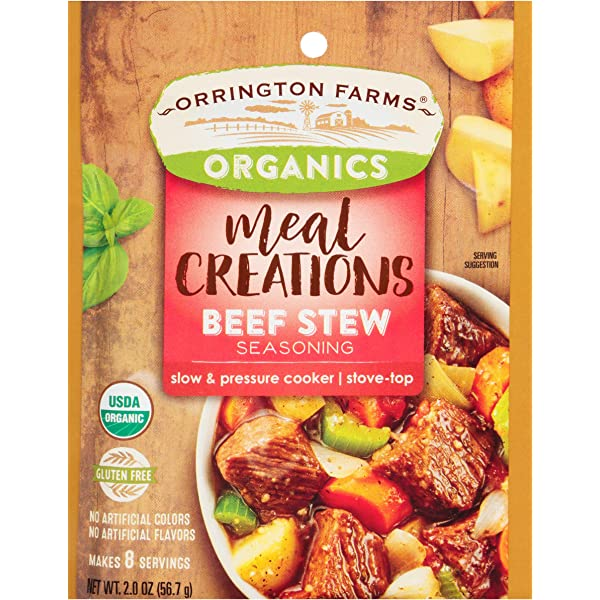 Amazon Com Orrington Farms Organic Meal Creations Seasoning Beef Stew 6 Count Grocery Gourmet Food