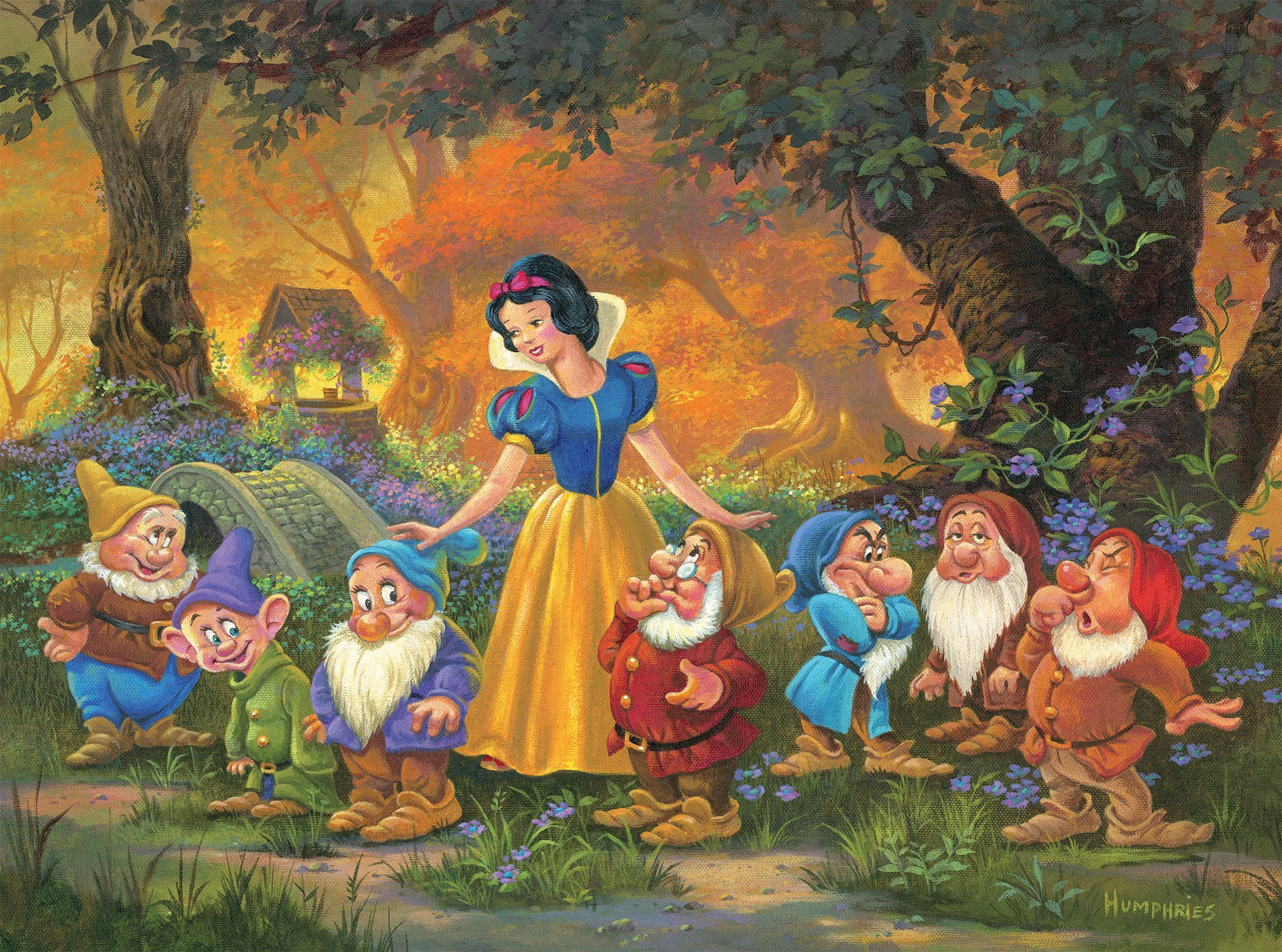 Ceaco Snow White Among Friends Disney Fine Art Puzzle-1000 Piece