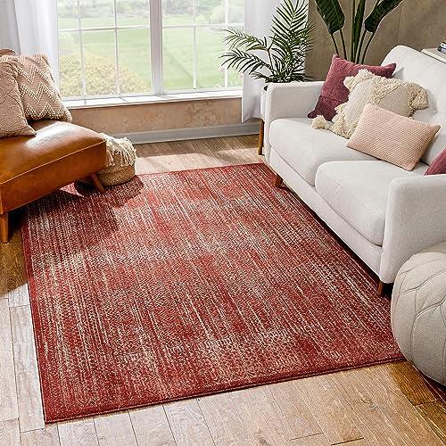 Well Woven Ennie Red Vintage Oriental Pattern Area Rug 5×7 5'3″ x 7'3″
