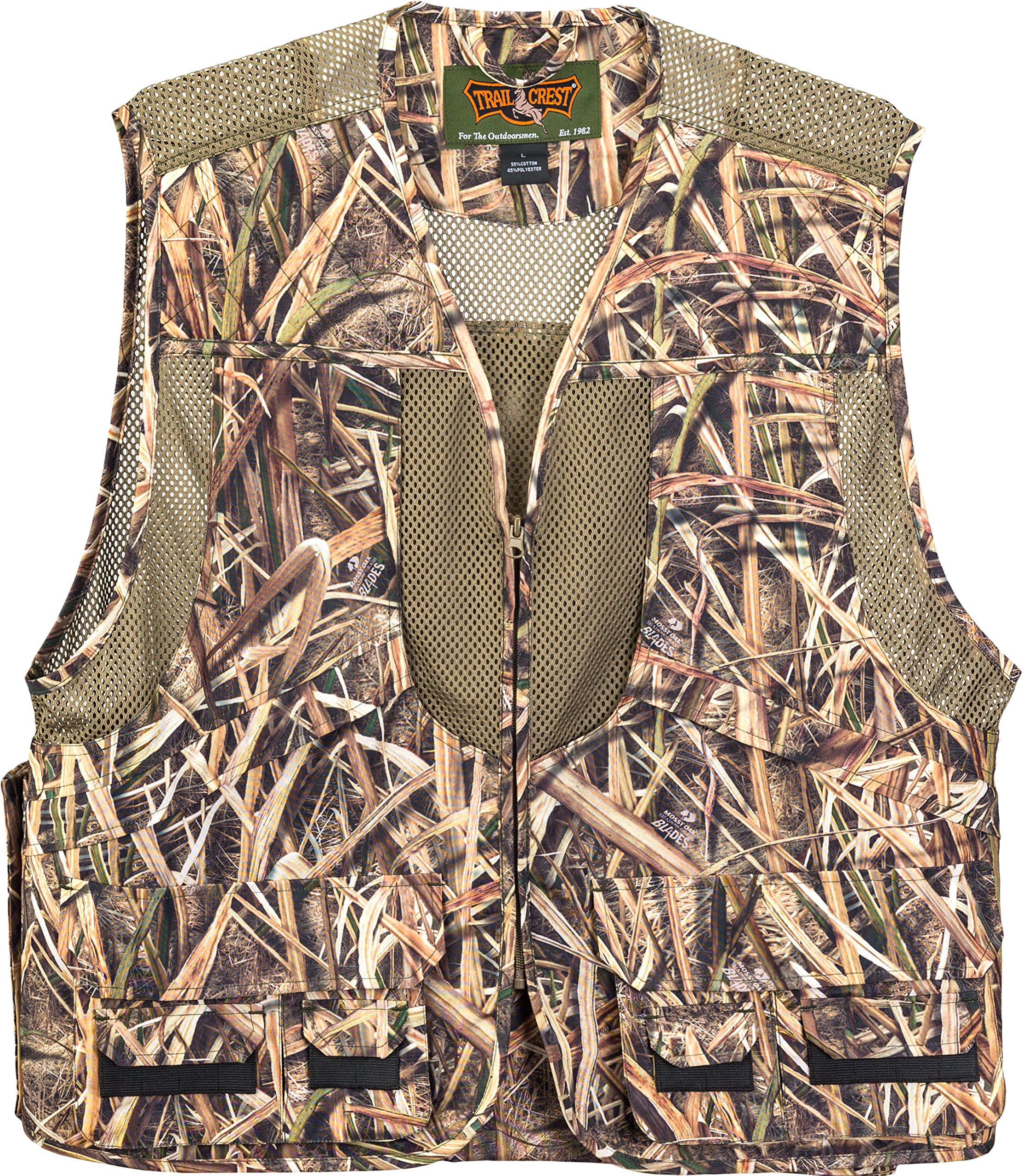 TrailCrest Kids Mossy Oak Deluxe Front Loader Hunting Vest, XL, Shadow Grass