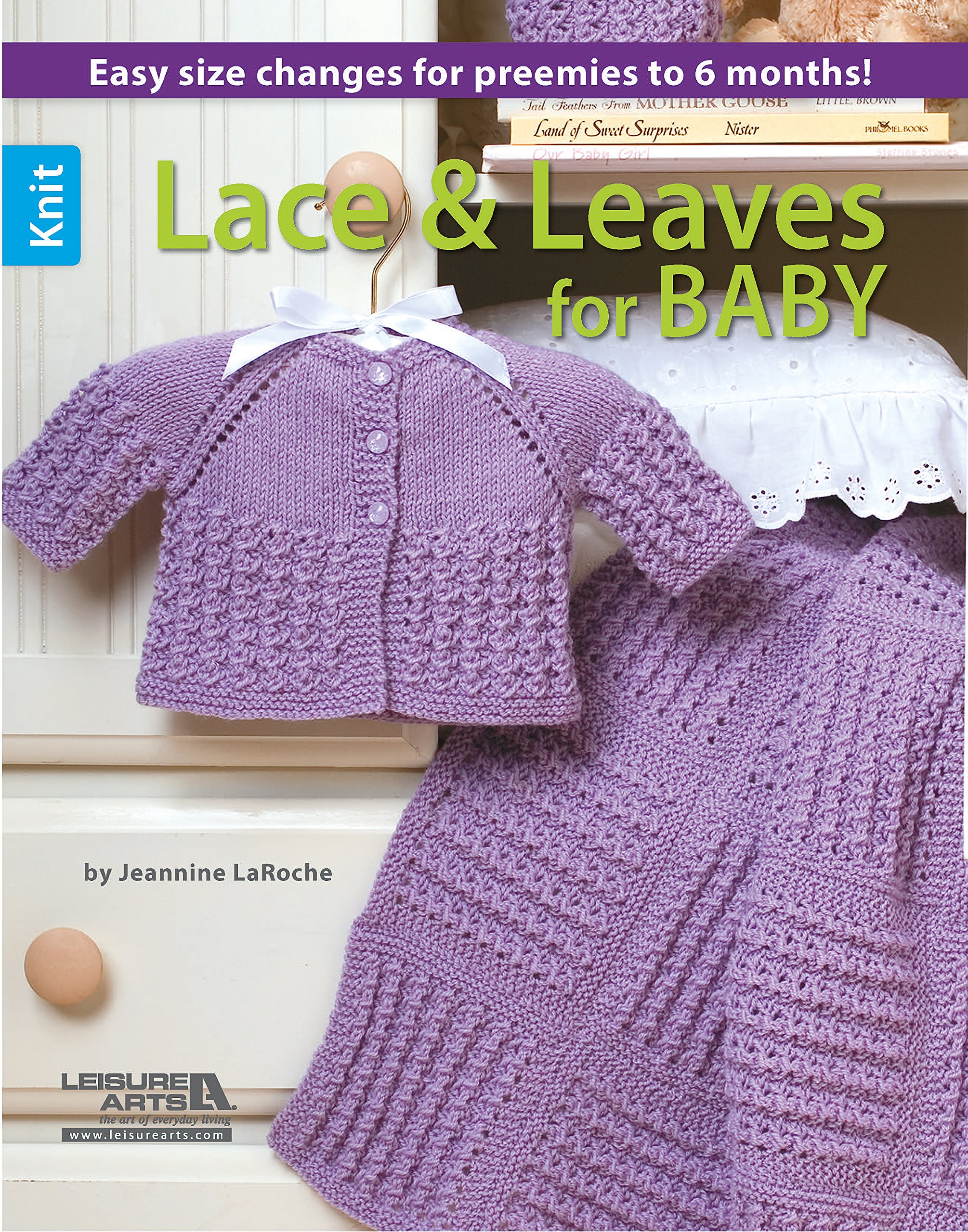 Knit Lace Leaves For Baby Crochet Leisure Arts 6566
