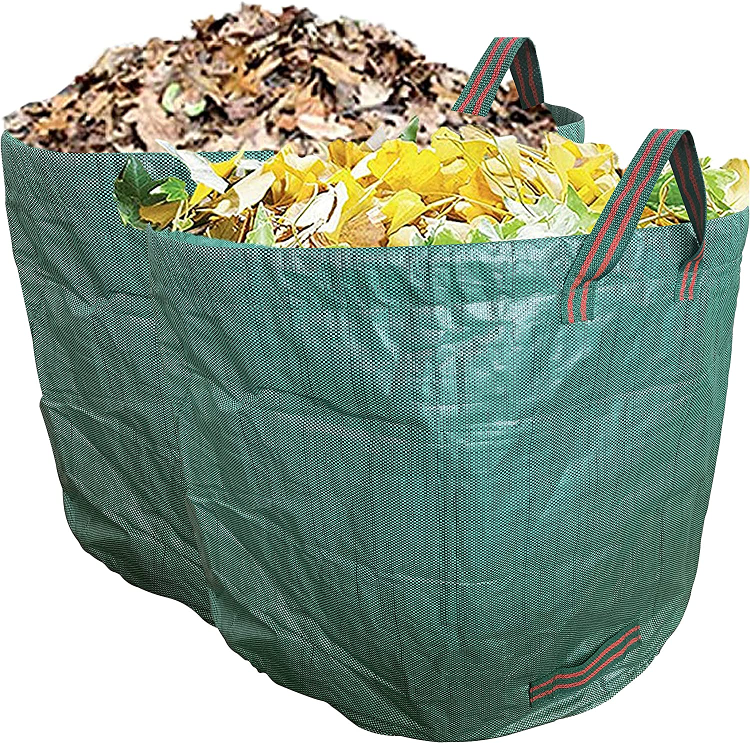Ugold 2-Pack Garden Bag, Reusable Yard Waste Bag, Leaf Bag, Work for Garden, Lawn and Patio, Clean Up Leaves and Waste (2-Pack 80 Gallons)