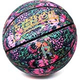 REBOIL Go!Girls Pink Basketball (Size 5 Kids & Youth, Size 6 WNBA, Size 7 NCAA & NBA) – Advance Composite Leather for Indoor