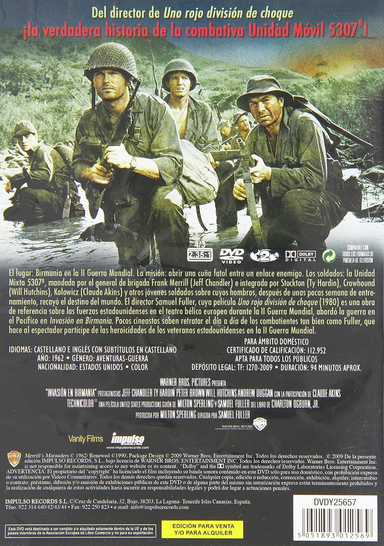 Invasión en Birmania [DVD]: Amazon.es: Jeff Chandler, Ty Hardin, Andrew Duggan, Peter Brown, Will Hutchins, Claude Akins, Luz Valdez, John Hoyt, ...