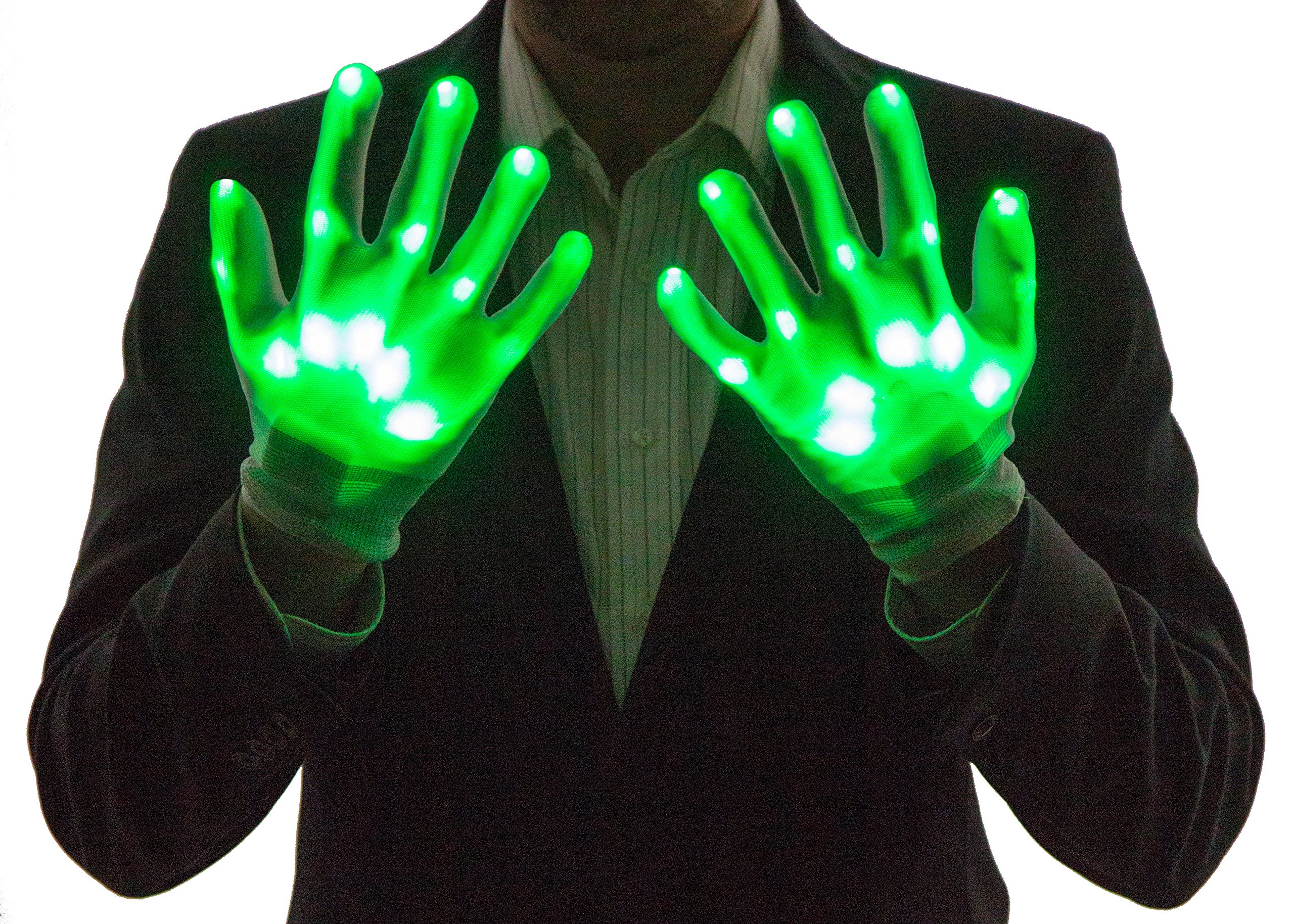 Neon Nightlife Light Up Gloves for Kids, LED, Green