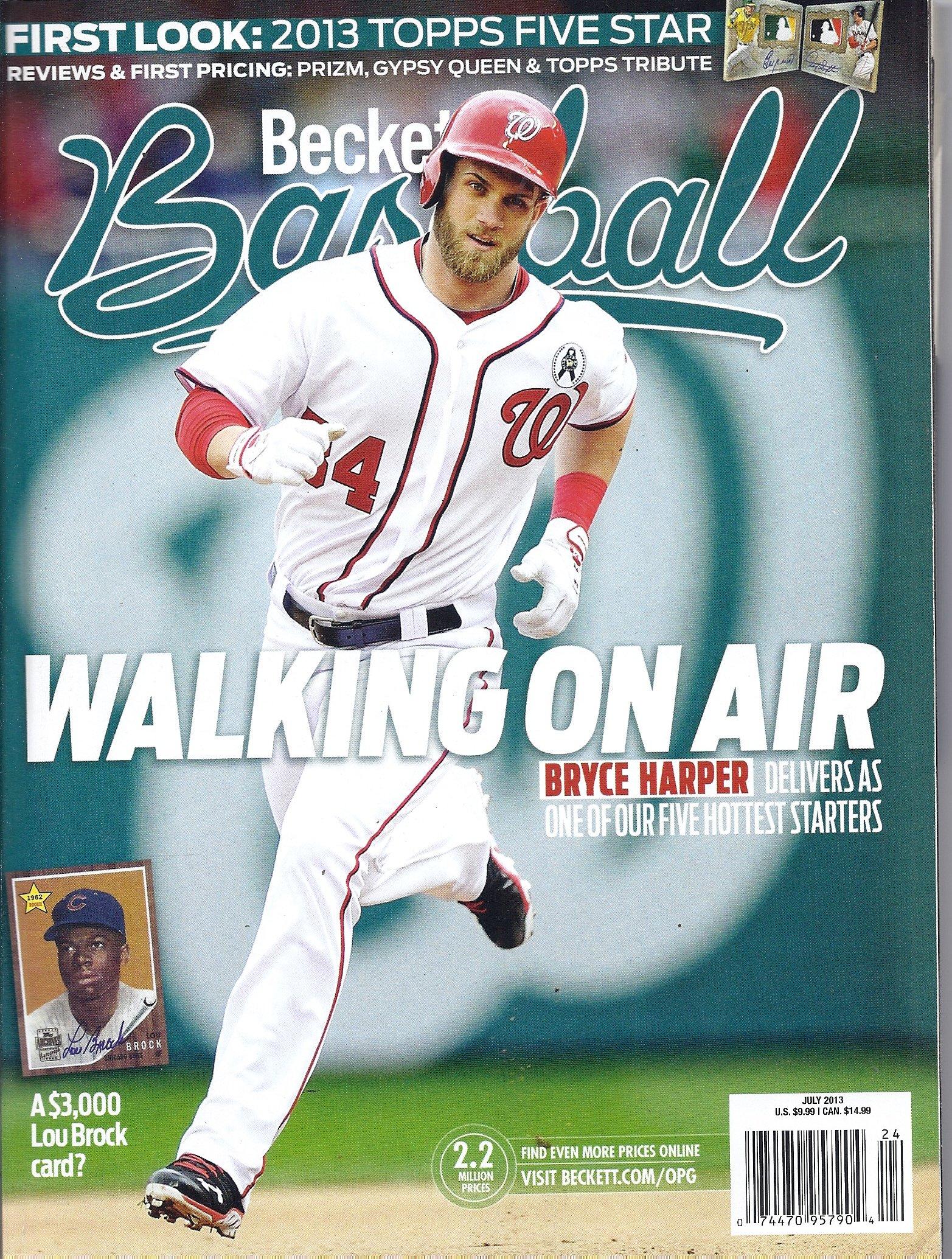 Beckett Baseball July 2013 Bryce Harper Cover Chris
