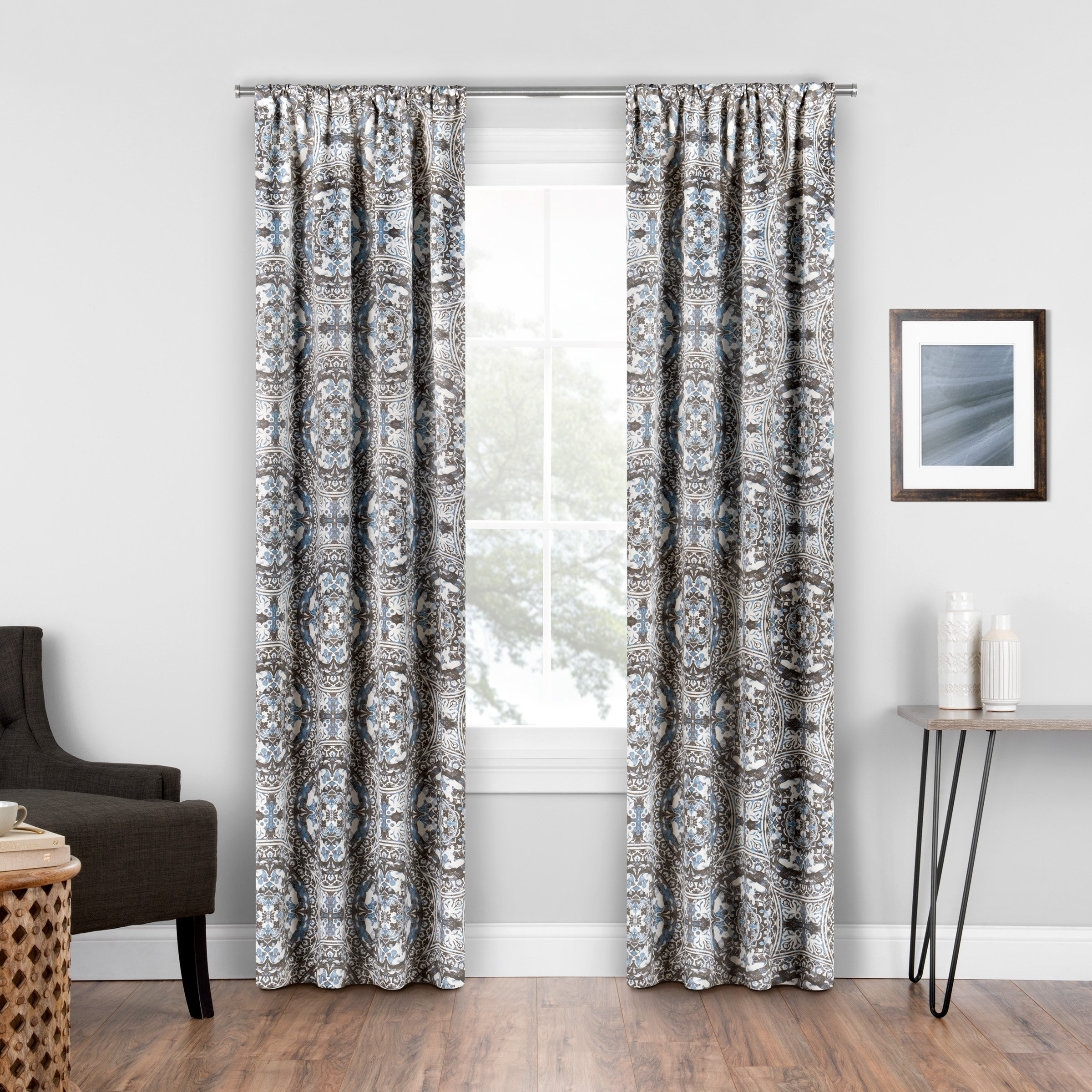 Eclipse Islington Room Darkening Single Room Darkening Window Curtain, 37x95, Spa