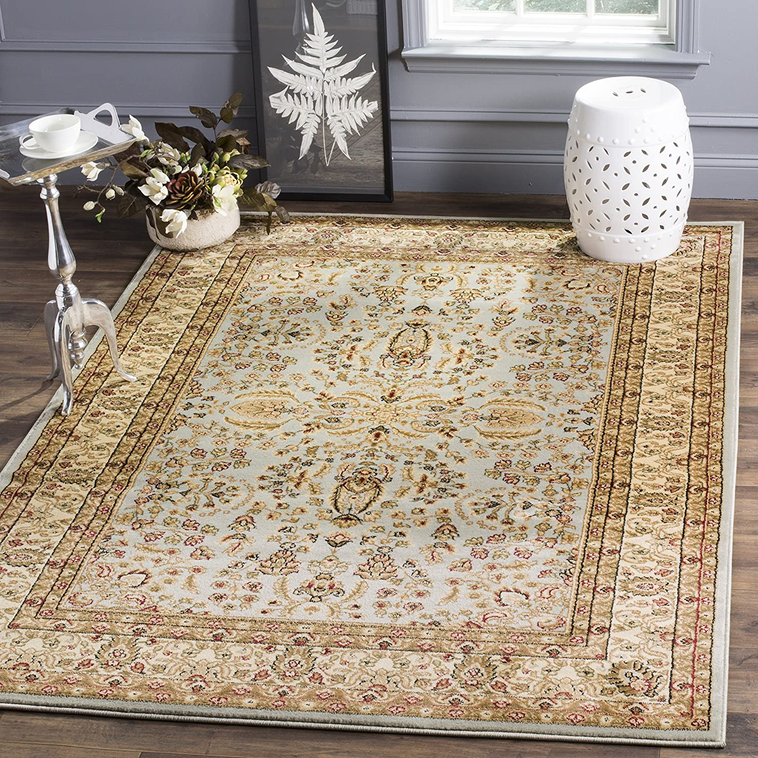 Safavieh Lyndhurst Collection LNH214G Grey and Beige Area Rug, 2 feet 3 inches by 4 feet (2'3 x 4') LNH214G-24