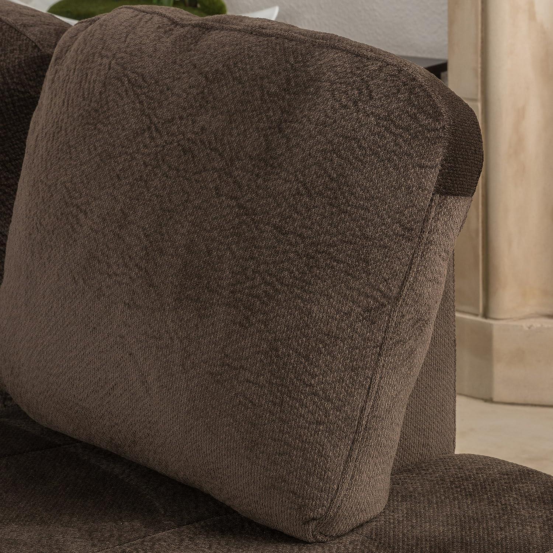 Amazon Welsh Chocolate Fabric Sectional Sofa Set Kitchen