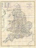 1799 CLEMENT CRUTTWELL MAP ENGLAND VINTAGE POSTER ART PRINT 12x16 inch 30x40cm 2880PY
