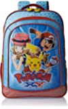 Pokemon Polyester 16 Inch Blue and Red Children's Backpack (Age group :6-8 yrs)