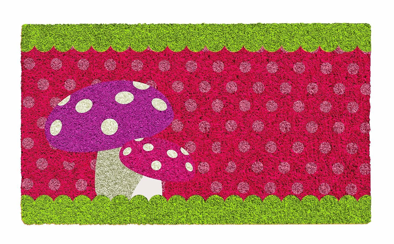 YOUNG GENERATION YH101503 Shoe-Max Classic - Zerbino Fungo in fibre di cocco, retro antiscivolo in PVC, 74 x 44 cm, colore YH 101505
