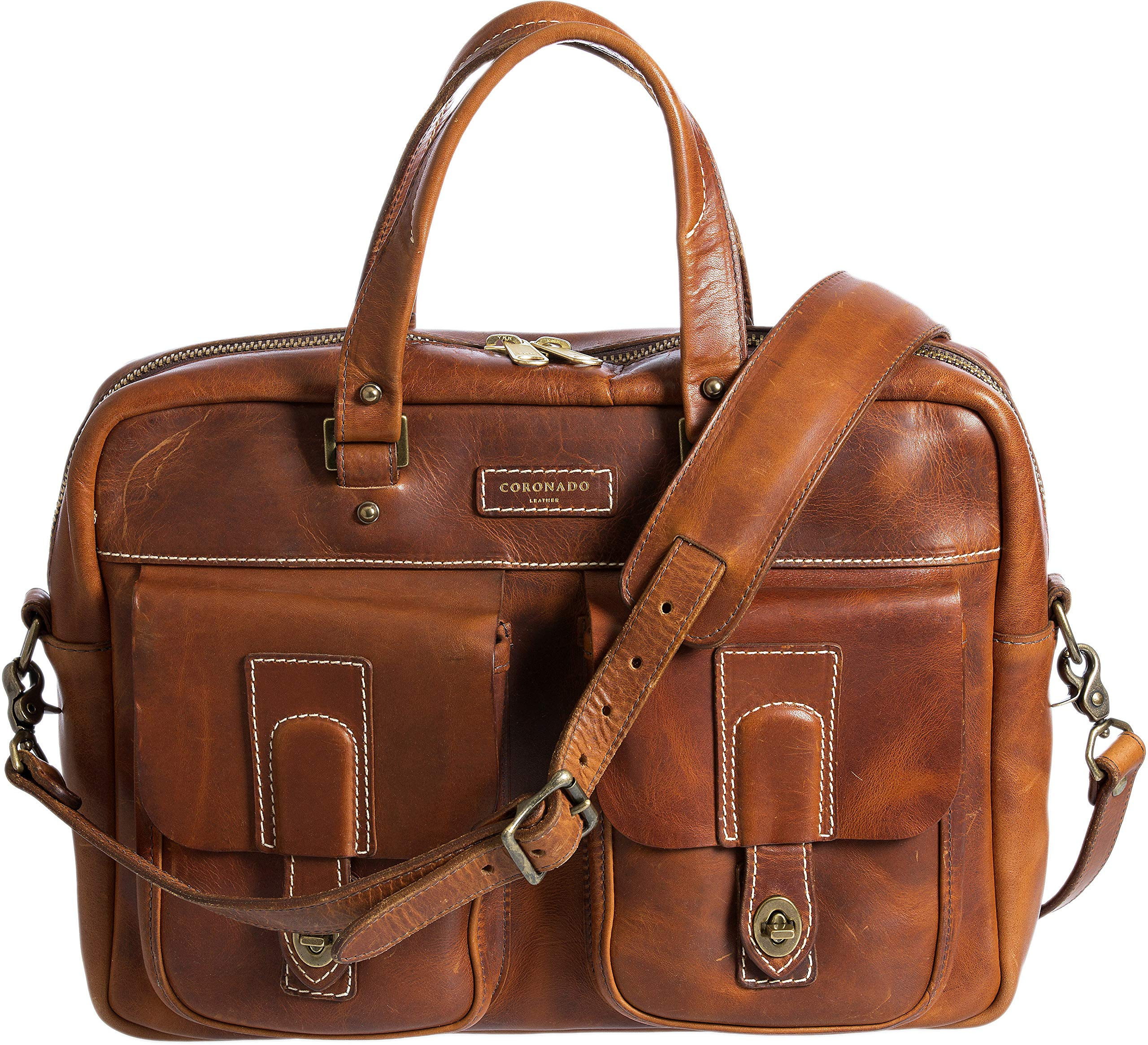 adf76fcc613b Americana CEO Leather Briefcase with Concealed Carry Pocket