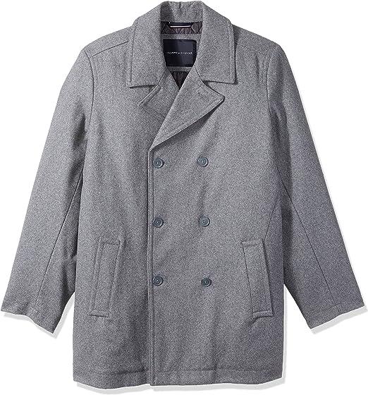 san francisco den bästa attityden billigare Tommy Hilfiger Mens Tall Wool Melton Classic Peacoat Wool Coats ...