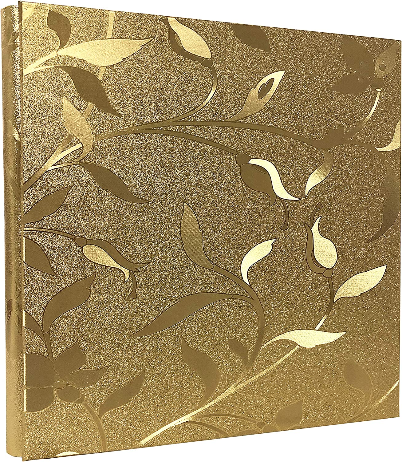 RECUTMS 600 Photo Picture Album PU Leather Cover Sewn Bonded Memo Album Slots Album Holds 4x6 Photos 5 Per Page Family Album Gift for Mother Father (Gold L-Leaf)