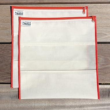 Neat-os 2pk Gallon Sized Reusable Bag Set (Orange)