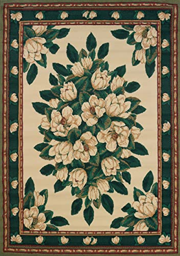 United Weavers of America Magnolia Manhattan Rug Collection, 7 10 by 10 6 , Cream