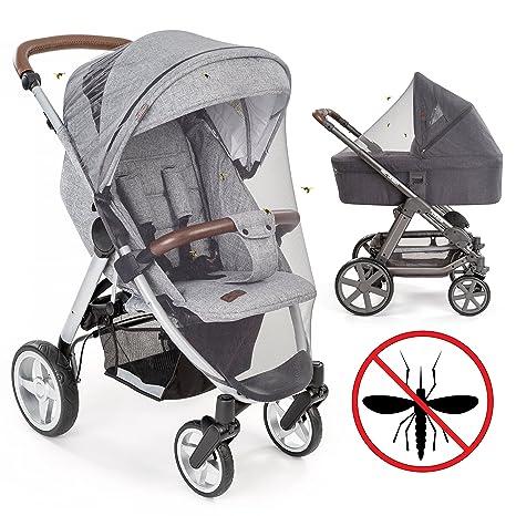 Mosquitera / Red antiinsectos universal para capazo, silla de paseo y cuna de viaje - Protección ideal contra picaduras, resistente, con goma elástica ...