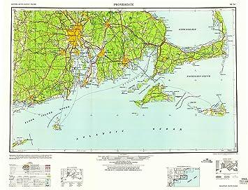 Amazon.com : YellowMaps Providence RI topo map, 1:250000 Scale, 1 X ...