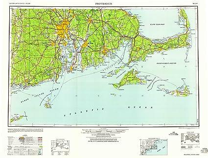 Amazon.com : YellowMaps Providence RI topo map, 1:250000 ...