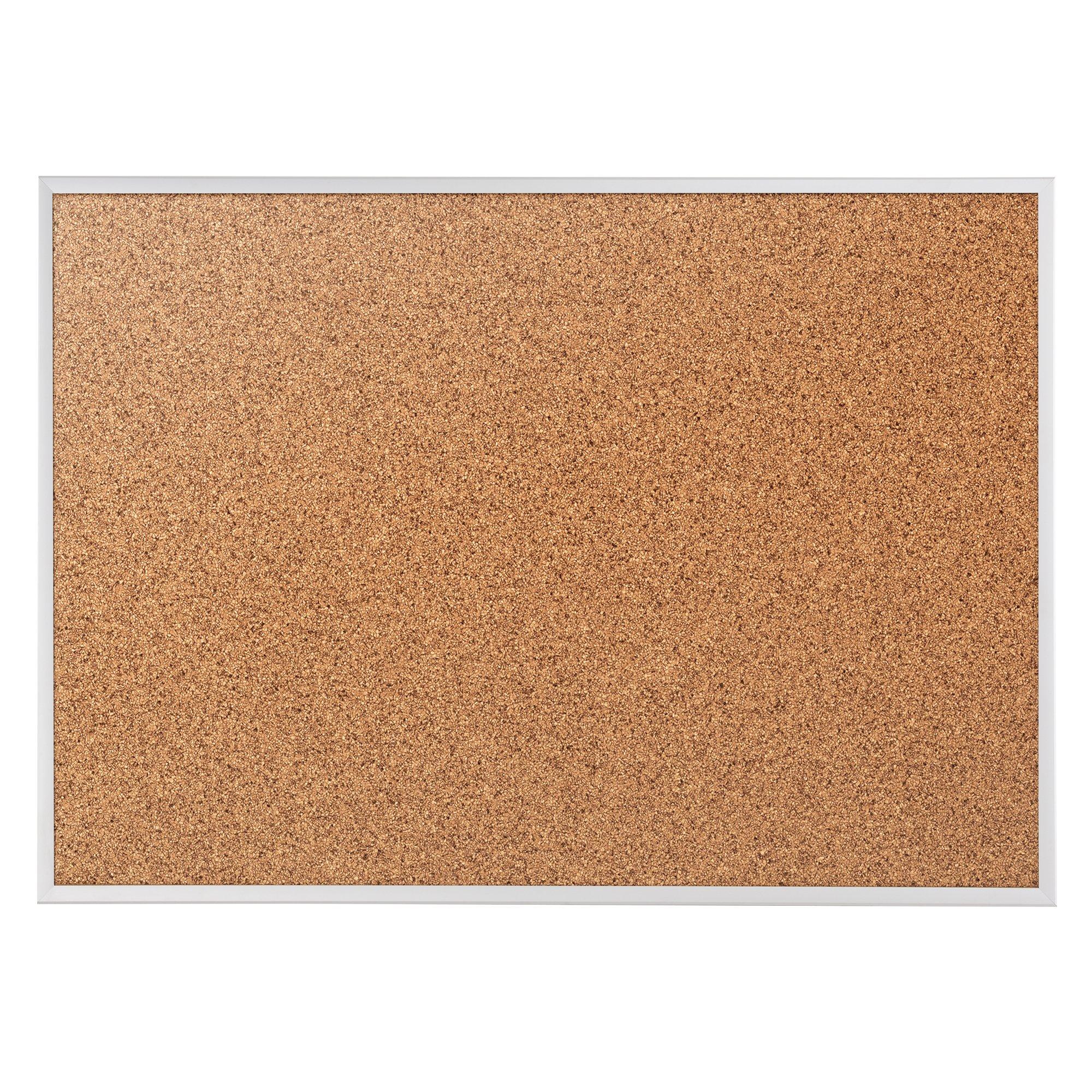 Quartet Cork Bulletin Board, Cork Board, 6' x 4', Aluminum Frame (2307)