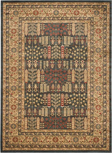Safavieh Mahal Collection MAH697E Traditional Oriental Navy and Natural Area Rug 10' x 14'