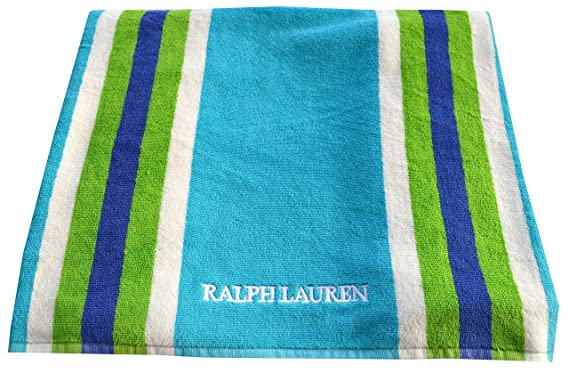 Ralph Lauren Beach Towel Aqua Stripe Amazon Co Uk Clothing