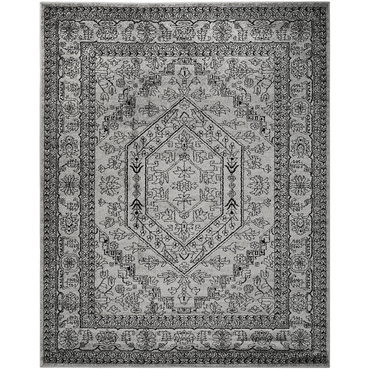 Amazon.com: Safavieh Adirondack Collection ADR108A Silver And Black  Oriental Vintage Area Rug (8u0027 X 10u0027): Kitchen U0026 Dining