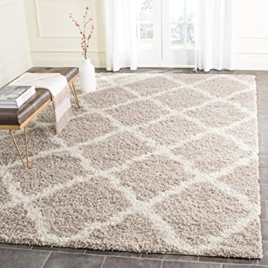 Safavieh Dallas Shag Collection SGD257D Beige and Ivory Area Rug (10' x 14')