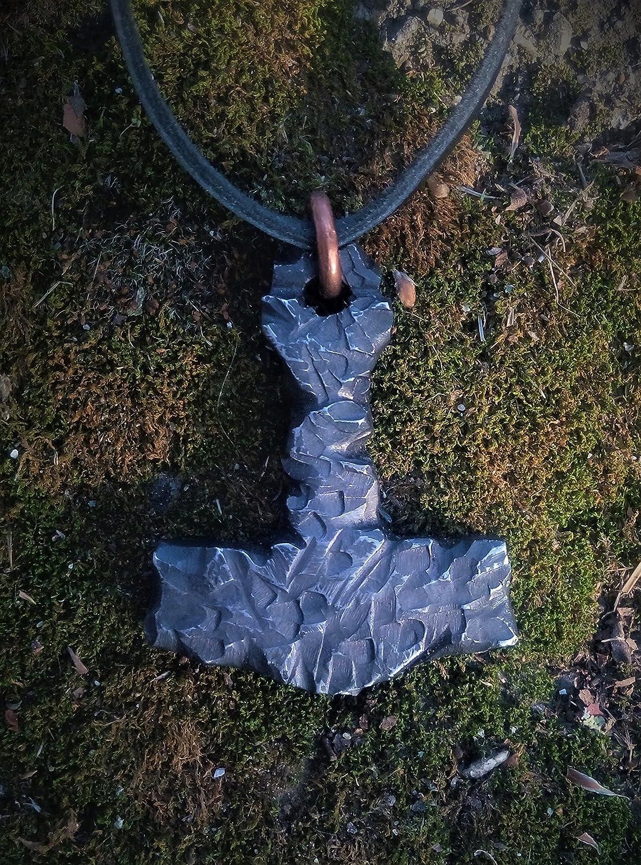 Thor's Hammer Mjolnir Mjölnir Mjollnir metal Pendant pendant Blued steel pendant