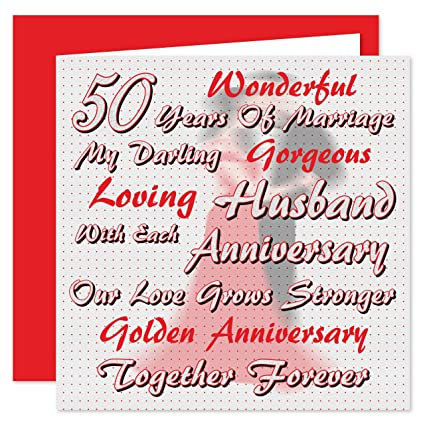 Tarjeta de 50 aniversario de boda para mi marido - en nuestro ...