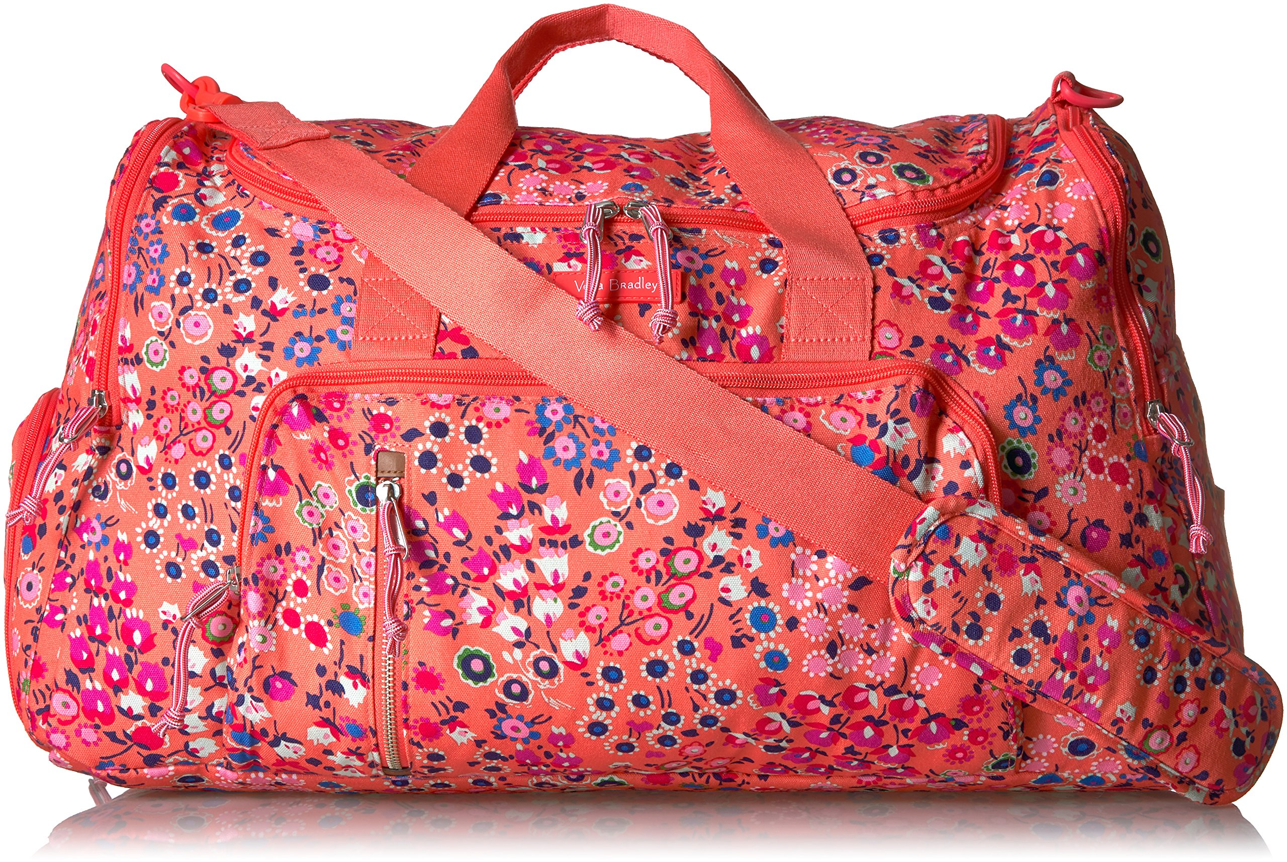 Vera Bradley Lighten Up Ultimate Gym Bag, coral meadow