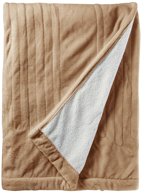 Woolrich WR54-1763 Heated Plush To Berber Blanket Twin Ivory,Twin E&E Co. Ltd DBA JLA Home