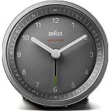 Braun BNC007GYGYRC Radio Controlled Alarm Clock, Plastik, Grey, 8 x 8 x 6.5 cm