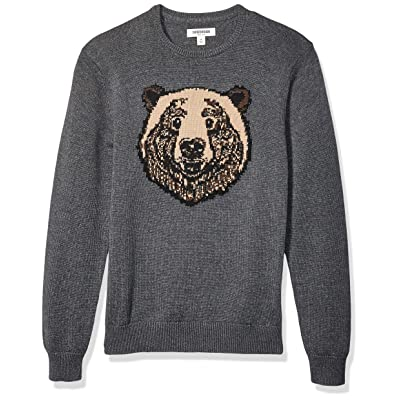Brand - Goodthreads Men's Soft Cotton Graphic Crewneck Sweater: Clothing