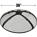 EasyGo 36 INCH FIRE SCREEN – FIRE PIT COVER – FIRE SCREEN PROTECTOR