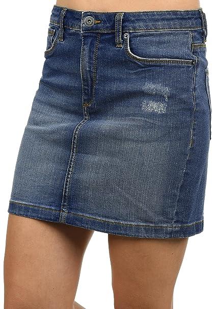 956069971 BlendShe Adria Falda Minifalda Falda Tejana para Mujer Elástica