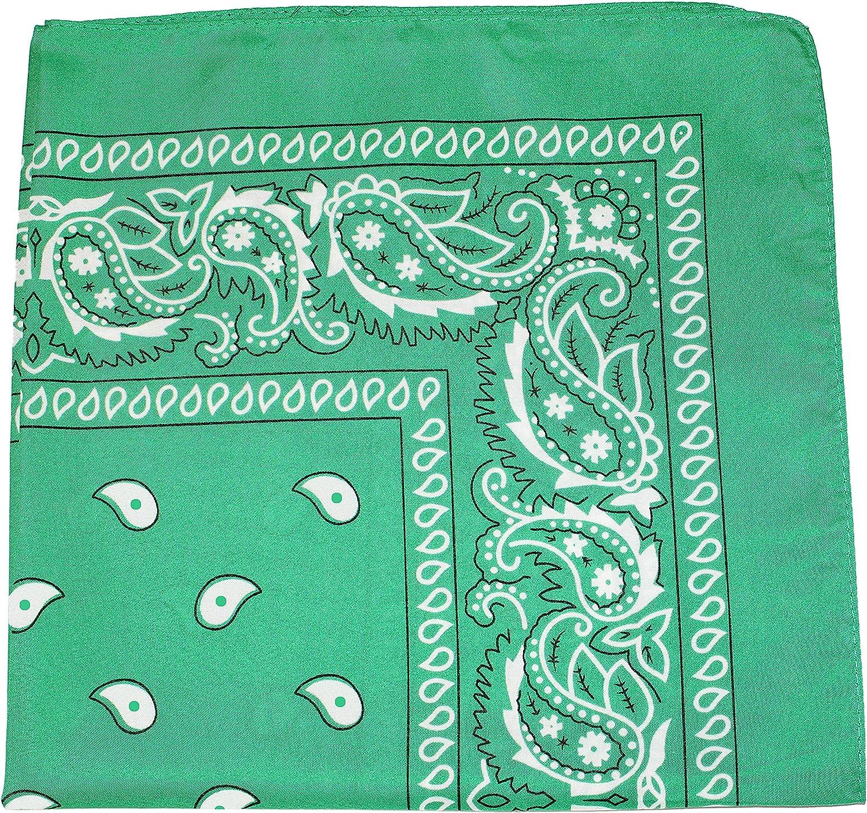 Uni Style Apparel 100/% Cotton X Large Paisley Double Sided Printed Bandana