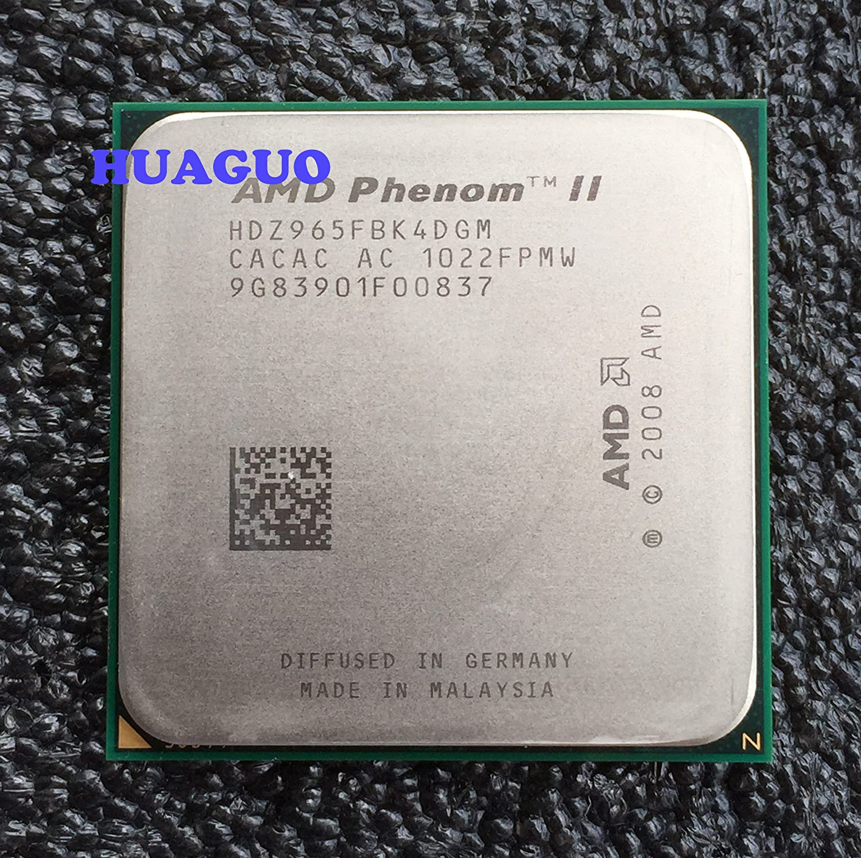Amazon Com Amd Phenom Ii X4 965 Black Edition 3 4ghz 4x512kb L2 6mb L3 Socket Am3 Quad Core Cpu Computers Accessories
