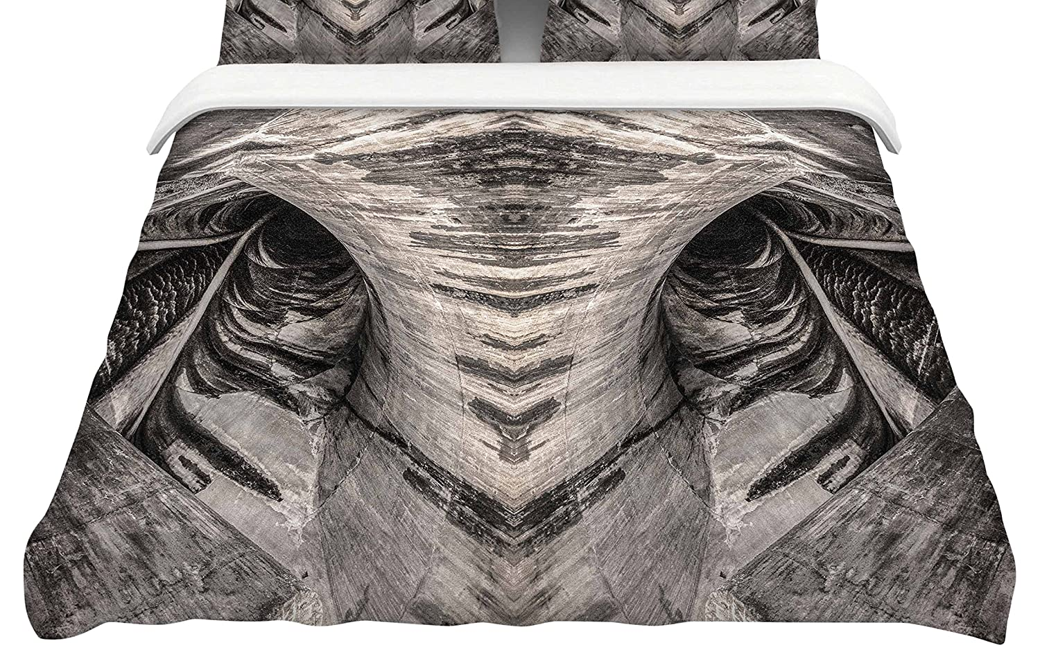 Kess InHouse Bruce Stanfield Dam Reticulation The Void King Cotton Duvet Cover 104 x 88 104 x 88