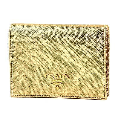 babaf66b99d5 プラダ(PRADA) サフィアーノ メタル SAFFIANO METAL 1MV204 UZF F0522 2つ折り財布 ゴールド 金
